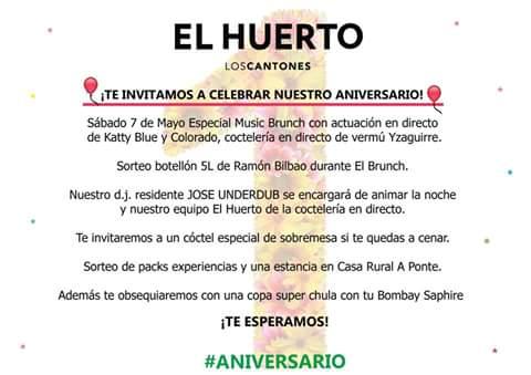 Primer Aniversario El Huerto Los Cantones Mayo 2016